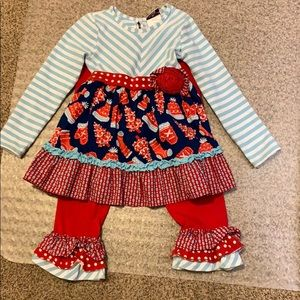 Other - Girls 6T Counting Daisies holiday outfit